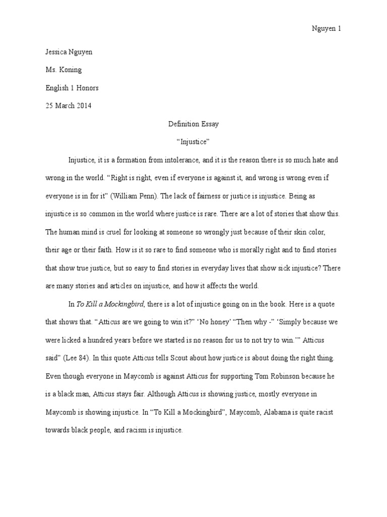 Examples Of Thesis Statements For Persuasive Essays  Short English Essays also International Business Essays Jessica Nguye  To Kill A Mockingbird  Crime  Justice Essays On Science