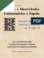 Musica e Identidades en Latinoamerica y España - Madrid- 2015