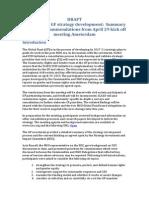 CS input into Global Fund strategy development
