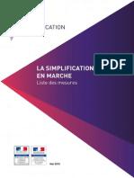 Simplification en Marche - Bilan - Récapitulatif Des Mesures - Juin 2015