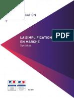 Simplification en Marche - Synthèse Du Bilan- Juin 2015