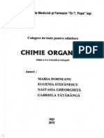 Teste-Chimie Organica Admitere Iasi 2015