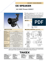 Takex AV-100E Data Sheet