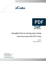 BroadSoft Partner Configuration Guide AudioCodes Enterprise SBC PBX Trunking