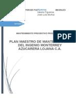Plan Maestro de Mantenimiento Ingenio Monterrey