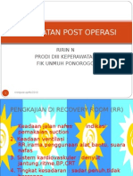 Perawatan Post Operasi