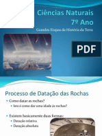 (5) - 2008 - 2009 - Ciências Naturais - 7º Ano - Terra, Um  Planeta com Vida - Etapas da História da Terra
