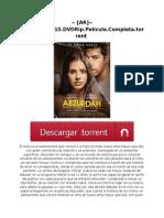 ~ [AR]~ Abzurdah.2015.DVDRip.Pelicula.Completa.torrent