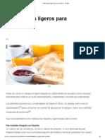 5 Desayunos Ligeros Para Corredores - RunMX