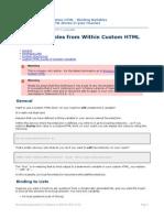 Custom HTML - Binding Variables