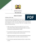 Kenyan Judiciary statement on traffic offenses