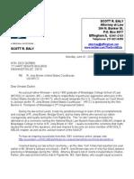 Letter to U.S. Senator Dick Durbin