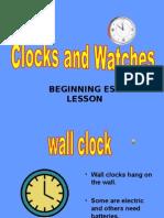Clocks Esl Lesson