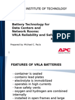 Battery Technology for Data Centers and Network Rooms- VRLA Reliability and Safety
