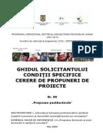 Ghidul Solicitantului DMI 1.5 Postdoc Strategice Apel 1 Conditii Specifice 89