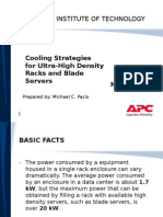 Cooling Strategies for Ultra High Density Racks