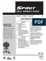 Weber Spirit Gas Grill - Owner's Guide - E210, E310, SP310