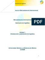 Unidad1. Introduccion y Plan de Logistica