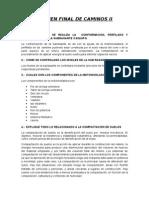 INFORMACION DE EVALUACION final de caminos II.doc
