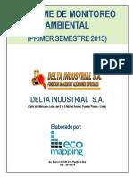 Informe de Monitoreo Ambiental (Primer Semestre 2013) - Delta Industrial S.a.