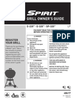 Weber Spirit Gas Grill - Owner's Guide - E220, E320, SP320