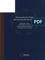 Honouring the Truth, Reconciling for the Future Summary of the Final Report of the Truth and Reconciliation Commission of Canada
