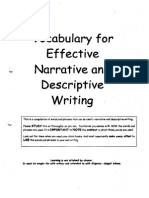 Vocab for Effective Narrative & Descriptive Writing