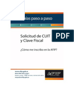 Tutorial AFIP paso a paso de la solicitud de CUIT y clave fiscal