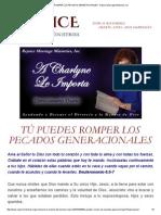 TÚ PUEDES ROMPER LOS PECADOS GENERACIONALES - Rejoice Marriage Ministries, Inc.pdf