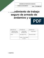 Procedimiento de Trabajo Seguro de Armado de Andamios y Uso
