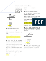 Examen Fisica Quinto Grado Iep Prg