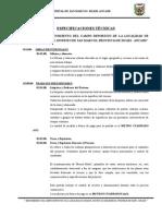 ESPECIFICACIONES TÉCNICAS CARASH