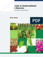 Diversity in Underutilized Plant Species an Asia-Pacific Prespective 1938