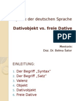 Dativobjekt vs Freie Dative