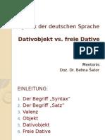 Dativobjekt vs Freie Dative