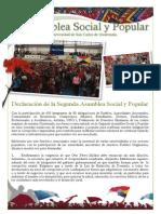 Declaración II Asamblea Social y Popular 2