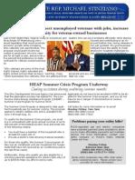 Veterans work bill among House proposals; HEAP Summer Crisis Program Underway