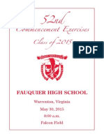 2015 FHS Graduation Program