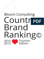 Bloom Consulting Country Brand Ranking Tourism 2014-2015