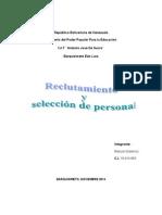Ensayo Reclutamiento y Selección de Personal