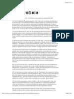 Dresser, Denise, ''Mitos Sobre El Voto Nulo'', 25 May 15