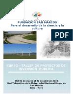 Curso Taller Proyectos de Inversión Pública