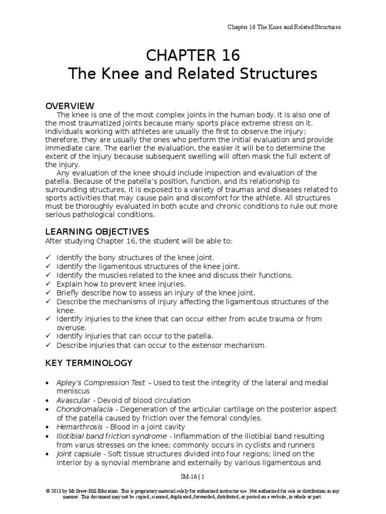 prentice9e im chap16 | Knee | Joints