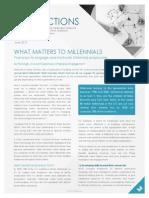 What Matters To Millennials