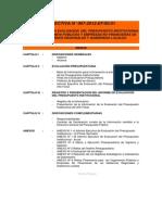 Directiva de Evaluacion 2012