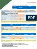Catalogo Dec Ostos de Servicios 2015