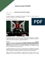 Relación de Notas 27-10-2014