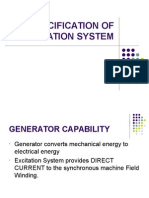 Specification of Excitation System
