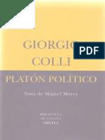 Colli, Giorgio - Platón Político