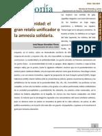 Posmodernidad el gran relato unificaor o la amnesia solidaria de Gonzalez 65 66